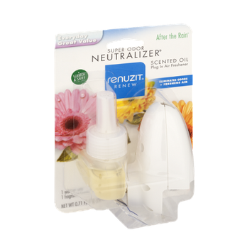 Renuzit Renew Neutralizer After the Rain Scented Oil Warmer Unit