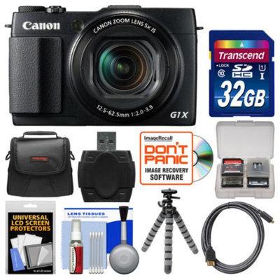 Canon PowerShot G1 X Mark II Wi-Fi Digital Camera with 32GB Card + Case + Tripod + Accessory Kit