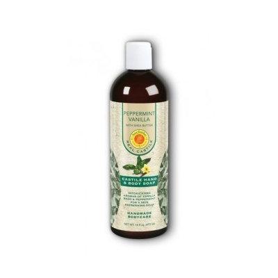 Peppermint Vanilla Liquid Soap Natural Sunfeather 16 oz Liquid