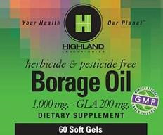 Borage Oil Highland Laboratories 60 Softgel
