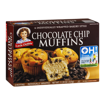 Little Debbie Chocolate Chip Muffins - 6 CT
