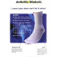 Healiohealth 3 Pairs Diabetic Socks For Foot Pain And Neuropathy - Medium - Crew (Size 10-13)