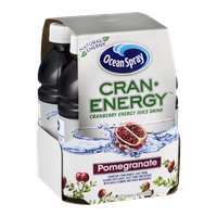 Ocean Spray Cran-Energy Cranberry Energy Juice Drink Bottles Pomegranate - 4 CT