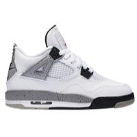 Air Jordan 4 Retro OG Kids' Shoe, by Nike Size 3.5Y (White)