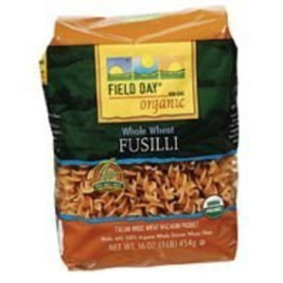 Field Day Pasta, Og, Ww, Fusilli, 16-Ounce (Pack of 6)