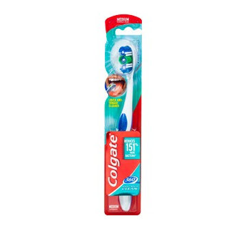 Colgate® 360°® WHOLE MOUTH CLEAN Toothbrush Medium