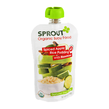 Sprout Organic Baby Food Spiced Apple Rice Pudding with Zucchini