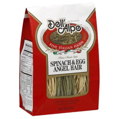 Dell' Alpe Spinach & Egg Angel Hair, 8-Ounce (Pack of 6)