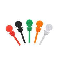 Royal Stix To Go Variety Pack Circle Bev Plug, Red, Green, Orange, Black & White, Case of 2000