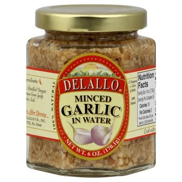 Delallo, Garlic Minced In Water, 6 OZ (Pack of 12)