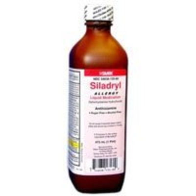 Silarx Siladryl Allergy Relief Liquid Medication, Red, Antihistamine, 4 Oz