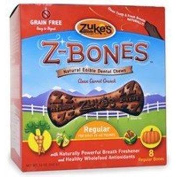 Zuke's Z-Bones Regular Clean Carrot Crisp Dental Dog Treats - 8ct