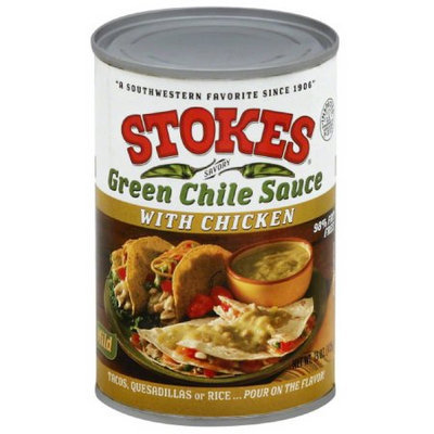 Stokes Savory Green Chile Sauce with Chicken, 15 oz, (Pack of 12)