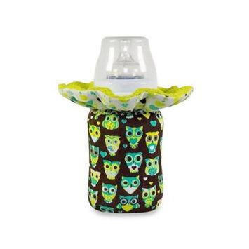 WarmZe Portable Bottle Warmer Starter Kit in Brown/Blue Owl