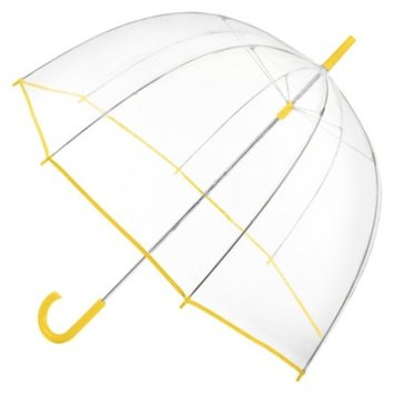Totes Clear Bubble Umbrella - Yellow Trim