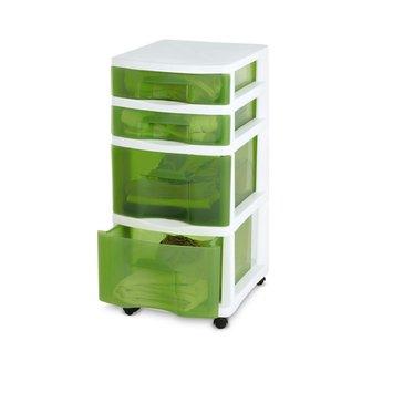 Essential Home 4 Drawer Organizer Cart Green - TAMOR CORPORATION