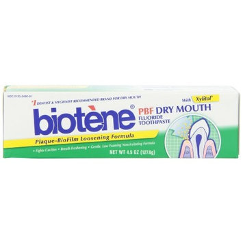 Biotene PBF Plaque Loosening Toothpaste, 4.5-Ounce Tube (Pack of 2)