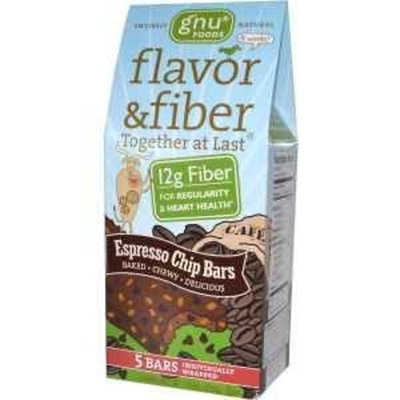 Gnu Foods Flavor & Fiber Bars - Espresso Chip 5/1.6 oz Bar(S)