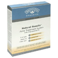 Nature's Gate Organics Acne Treatment System with Oligopeptide-10, (1 acne treatment system)