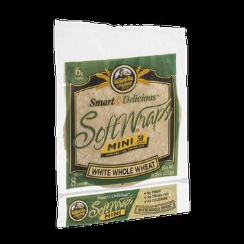 La Tortilla Factory Smart & Delicious Mini Soft Wraps White Whole Wheat - 8 CT