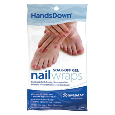 Graham Professional Graham Hands Down Nail Soak Off Gel Wraps, 10 Count