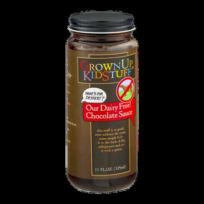 GrownUp KidStuff Dairy Free Chocolate Sauce