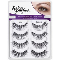 Salon Perfect Perfectly Natural Multi Pack Eyelashes, 614 Black, 4 pr