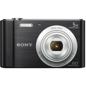 Sony W800/B 20MP Digital Camera with 5X Optical Zoom - Black