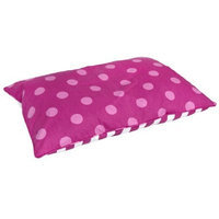 Happy Hounds Bosco Dog Bed, Small 24 by 36-Inch, Pink/White