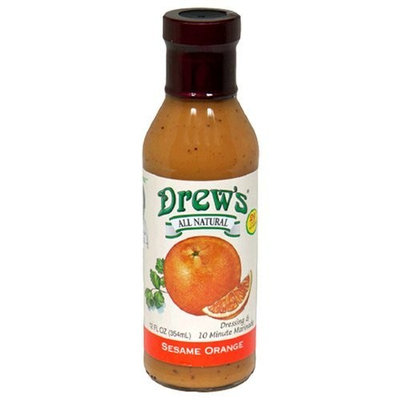 Drews All Natural Drew's All-Natural Salad Dressing and 10 Minute Marinade, Sesame Orange, 12-Ounce Bottle