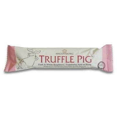 Hagensborg Truffle Pig Bar - White & Dark Chocolate Raspberry -(pack of 6)