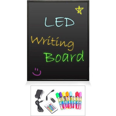 Pyle Audio Pyle Erasable Illuminated LED Writing Board w/ Remote Control and 8 Fluorescent Markers PLWB3040