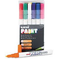 Sanford uni-Paint Markers, Fine Point, Assorted, 12/Set