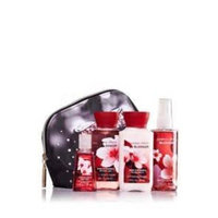 Bath and Body Works Cosmetic Bag Travel Gift Set (Warm Vanilla Sugar)