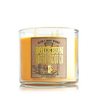 1 X Bath & Body Works BOURBON BUTTERSCOTCH 3 Wick Scented Candle 14.5 oz./411 g