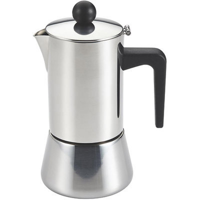 BonJour Coffee and Tea Stainless Steel 4-Cup Stovetop Espresso Maker