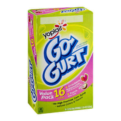 Yoplait® Go-Gurt Tubes Strawberry Watermelon & Punch