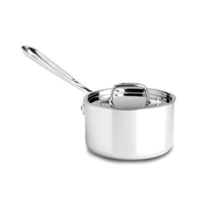 All Clad Stainless Steel 1-1/2qt Sauce Pan w/ Lid