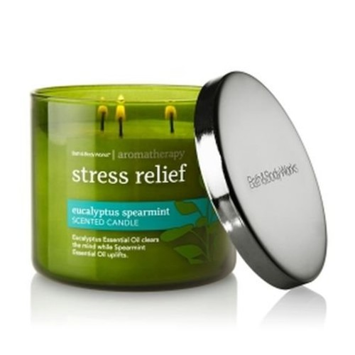 Bath & Body Works Aromatherapy Stress Relief - Eucalyptus Spearmint Scented Candle, 14.5 OZ