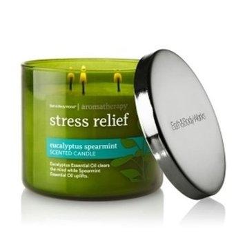 Bath & Body Works Aromatherapy Stress Relief - Eucalyptus Spearmint Scented Candle, 14.5 OZ