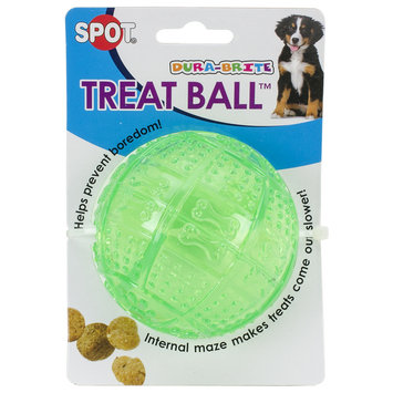 Ethical Pet Products Ethical Dog-Spot Dura-brite Treat Ball- Assorted 3