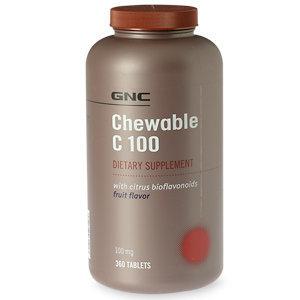GNC Chewable C 100 with Citrus Bioflavonoids