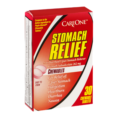 CareOne Stomach Relief Chewables - 30 CT
