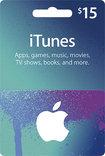 Apple - $15 Itunes Gift Card - Blue/purple