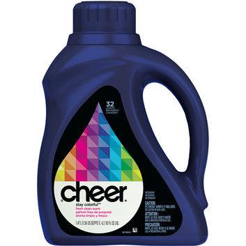 Cheer 2x Ultra Fresh Clean Scent Liquid Detergent 32 Loads 50 Fl Oz