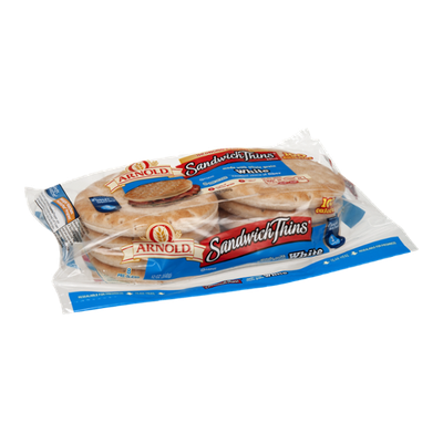 Arnold Sandwich Thin Rolls White - 8 CT