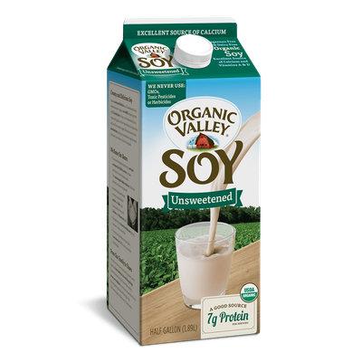 Organic Valley® Unsweetened Soy, Half Gallon