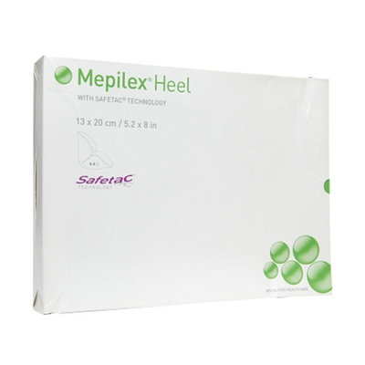 Mepilex Heel Soft Silicone Foam Dressing, 5.2 x 8 Inches, 5 ea