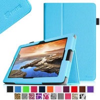 Fintie Folio Leather Case with Auto Sleep / Wake Feature for Lenovo IdeaTab A10-70 10.1-Inch Android Tablet, Blue