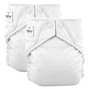 Wincraft FuzziBunz Perfect Size Reusable Diapers (2 Pack)- White (Small)